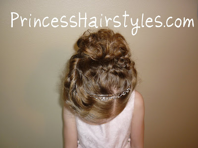 Updo with headband hairstyle