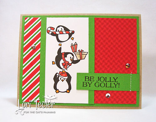 Be Jolly By Golly card-designed by Lori Tecler/Inking Aloud-stamps from The Cat's Pajamas