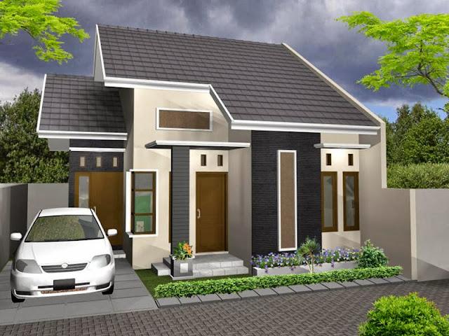 Contoh 2 desain rumah minimalis tipe 36