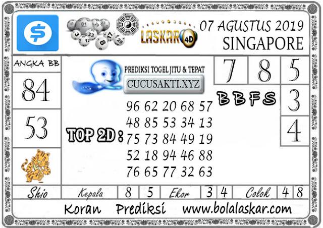 Prediksi Togel SINGAPORE LASKAR4D 08 AGUSTUS 2019