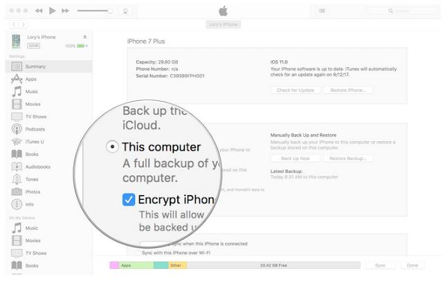 Cara Backup iPhone atau iPad Menggunakan iTunes , Begini caranya