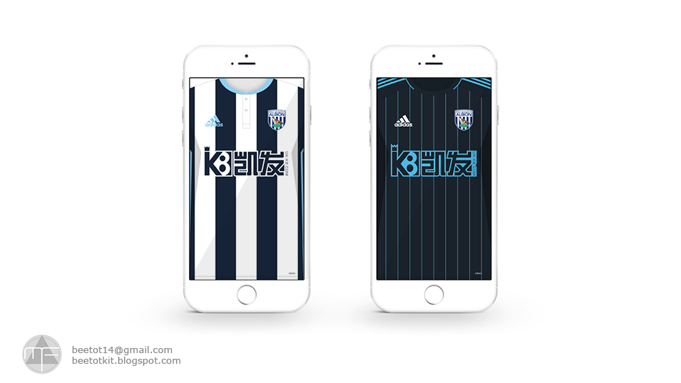 Beetot Kit: West Bromwich Albion Kit 16/17 Iphone 6 Wallpaper