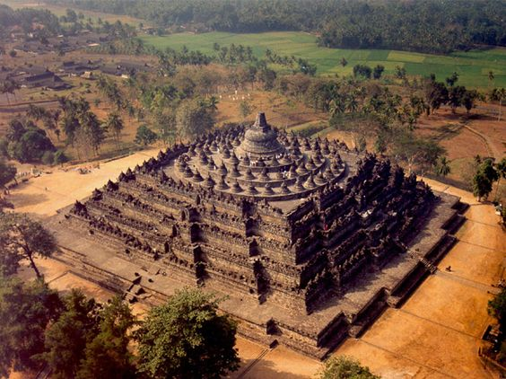 Aerial view of Borobudur
