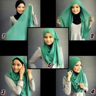 cara memakai hijab segitiga modis