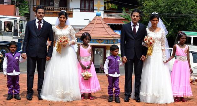Pernikahan unik serba kembar