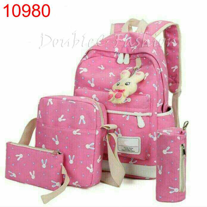 TASHIE BACKPACK RABBIT PINK - 10980