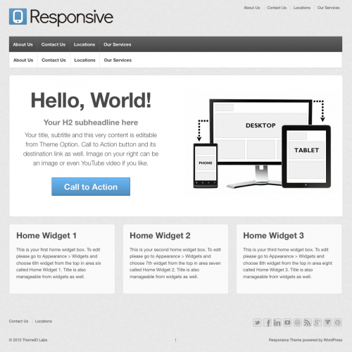 responsive simple one page theme from 2012 30 Ücretli Ücretsiz WordPress Teması