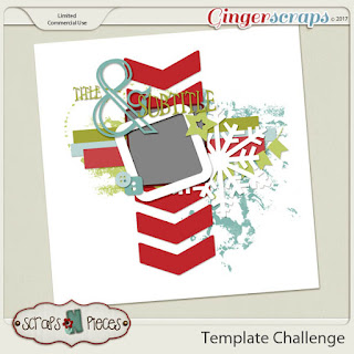 Ginger Scraps November 2017 Template Challenge 1 and Freebie