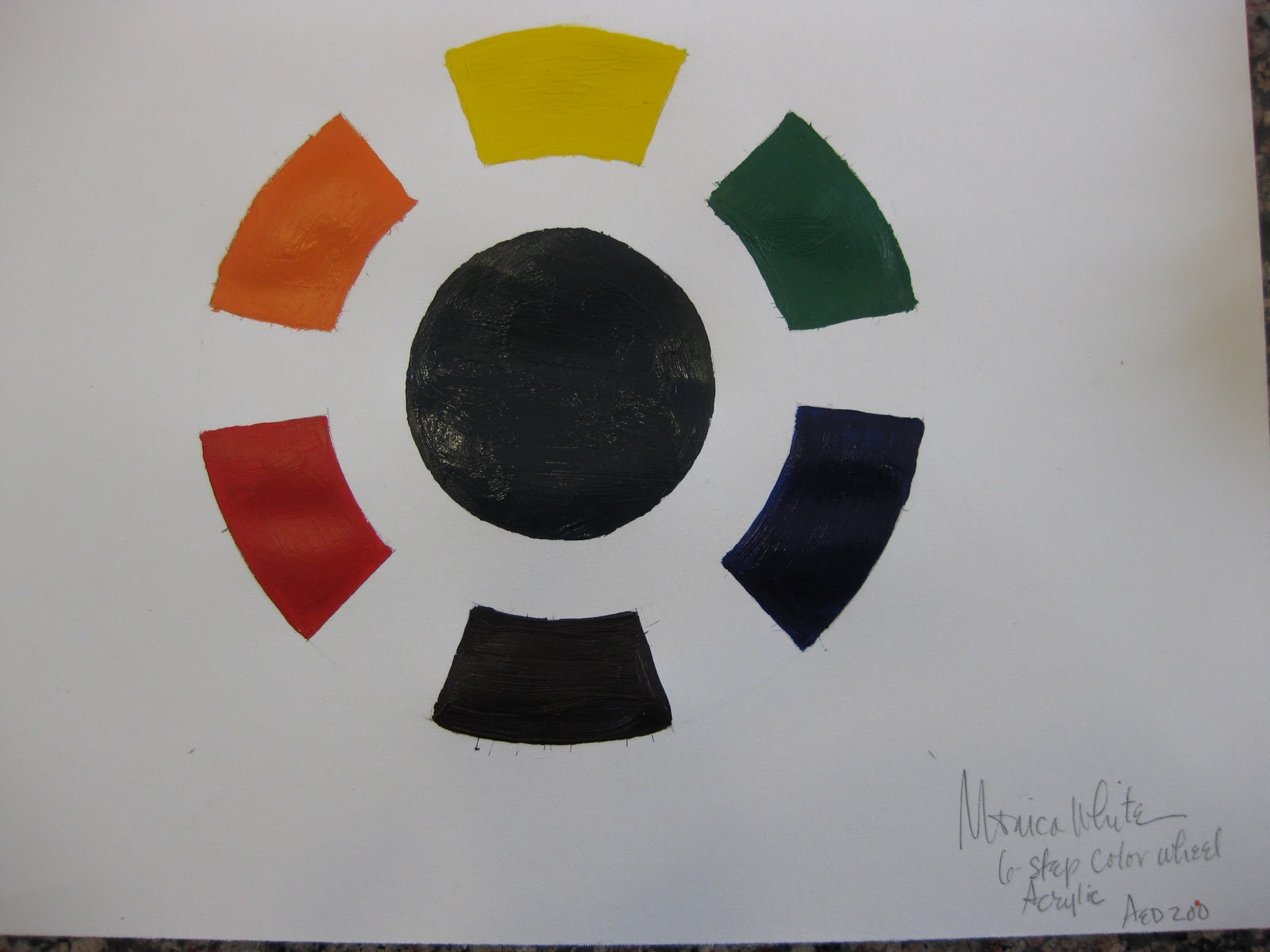 Monica White S Art Blog Week Four Value Scale And 6 Step Color Wheel
