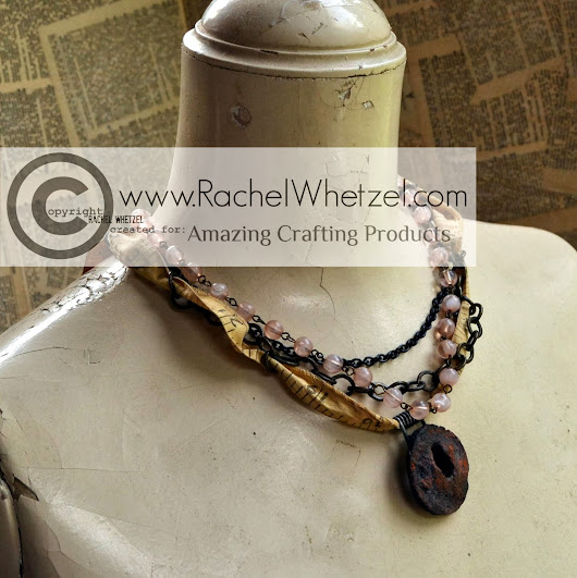 Mixed Media Vintage Necklace