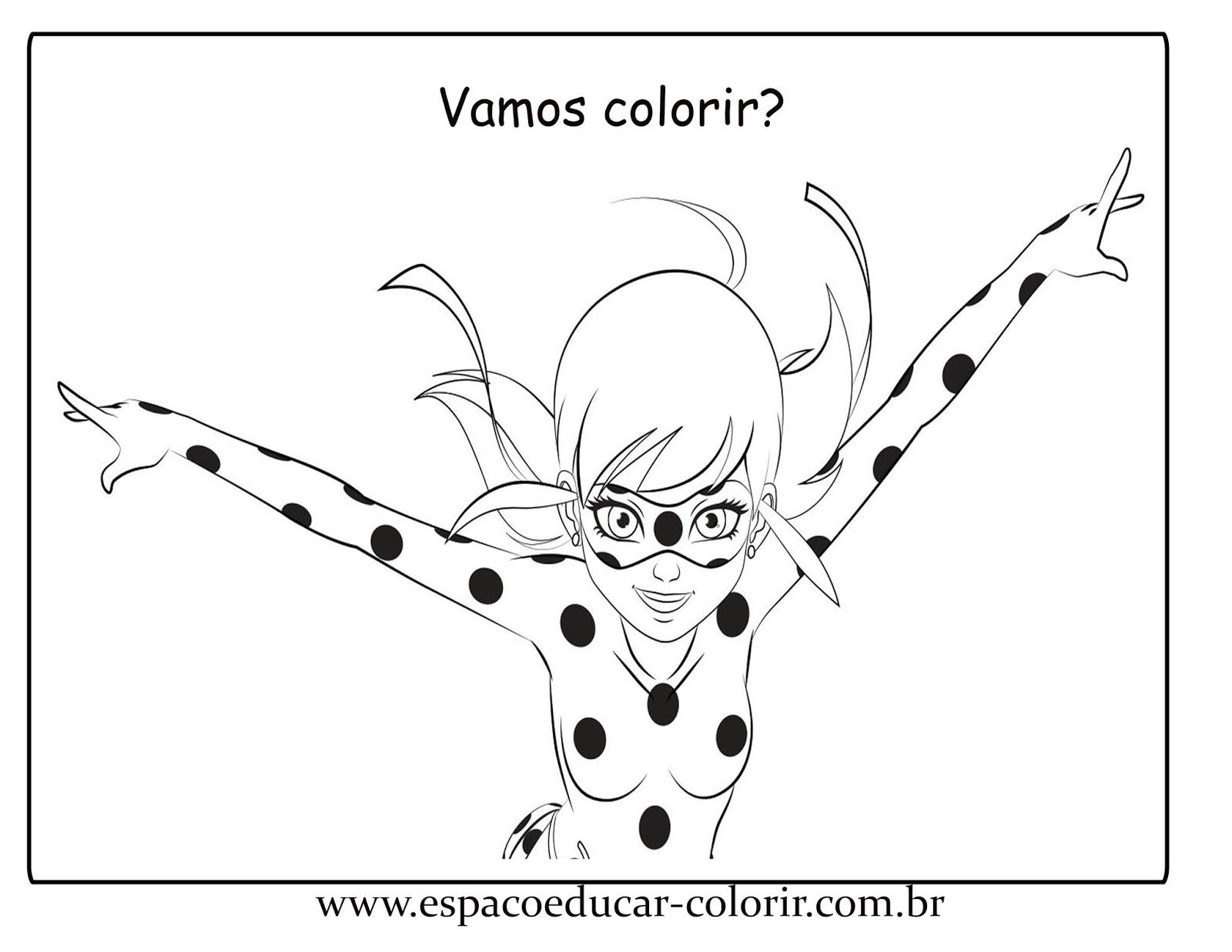 Jogo Atividades e desenhos de Miraculous Ladybug para