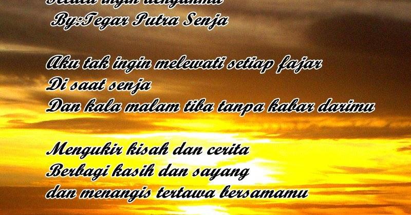 Bahasa Sunda Cerpon  Selalu Ingin Bersamamu By;tegar Putra Senja Kumpulan Puisi Dan