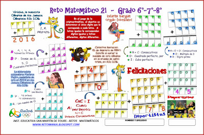 Criptoaritmética, Alfamética, Criptosuma, Criptograma, Juegos Olímpicos, Juegos de letras, Retos matemáticos, Desafíos matemáticos, Problemas matemáticos