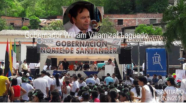 Félix Contreras registra visita institucional del Gobernador William Villamizar a Santiago #NdeS #Co #OngCF #RSY