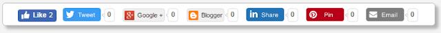 Blogger sosyal paylaşım butonları