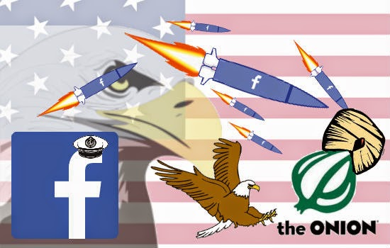 Facebook bombs the Onion clipart picture