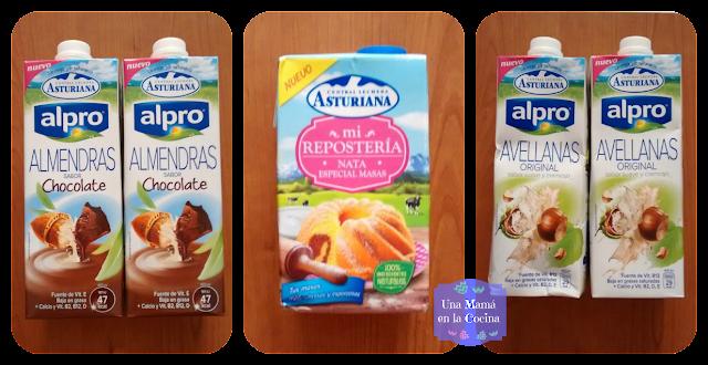 Brick de leche de avellanas, almendras con chocolate y nata