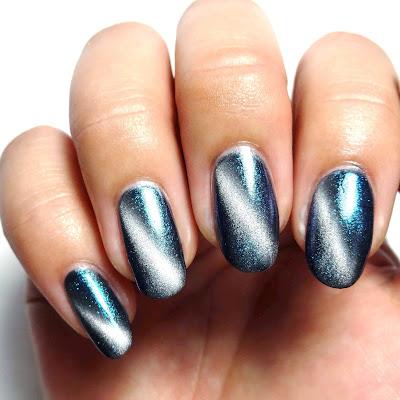 Cosmic Cat Eye Nails