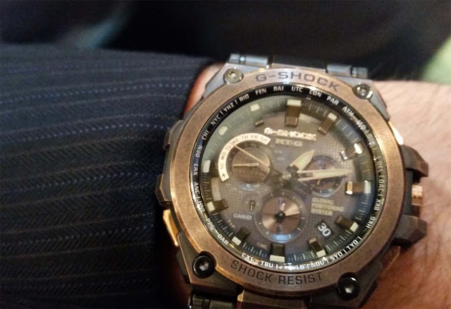 G-Shock watch for a new target market. Brown dial
