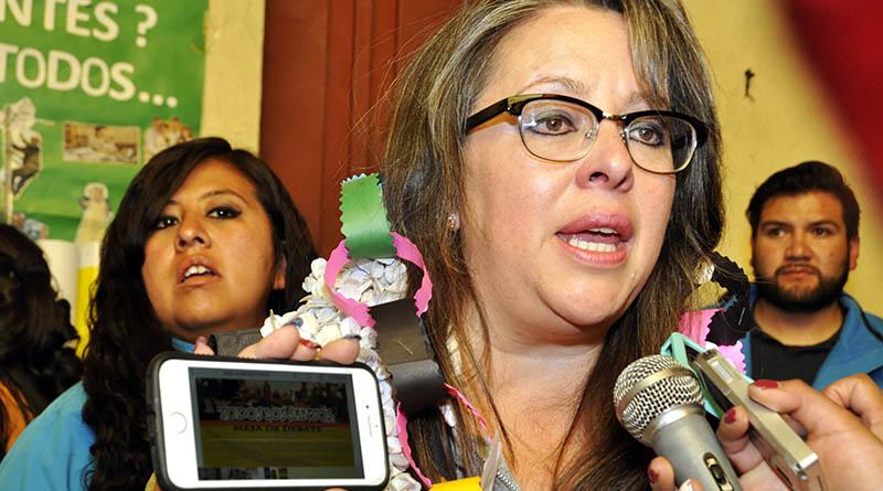 La secretaria Municipal de Desarrollo Social, Blanca Mendoza.