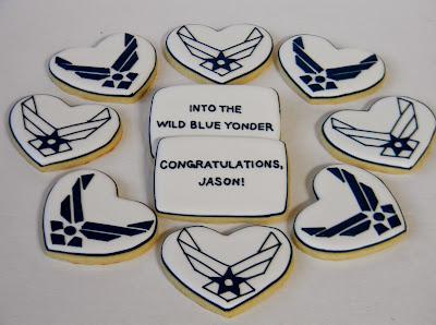 Sweet Melissa's Cookies: Happy Veterans Day: Air Force Cookies