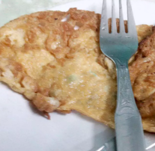 Chicken Omelet Fry at AQUASHINE-Coffee House-Jadavpur