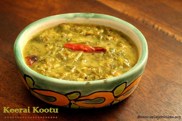 IMAGES OF Keerai Kootu / Keerai Kootu In Instant Pot / Moong Dal Spinach Gravy / Spinach And Coconut Dal