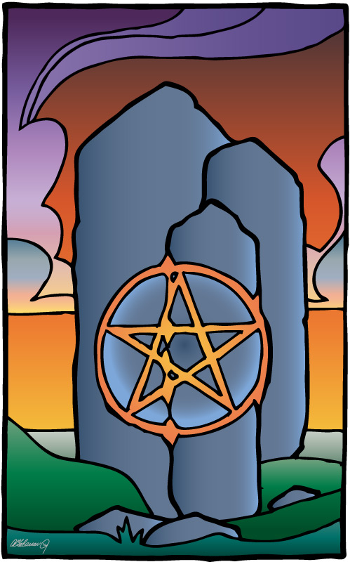 SPINOOLEAN: Ptero Tarot: Ace of Pentacles
