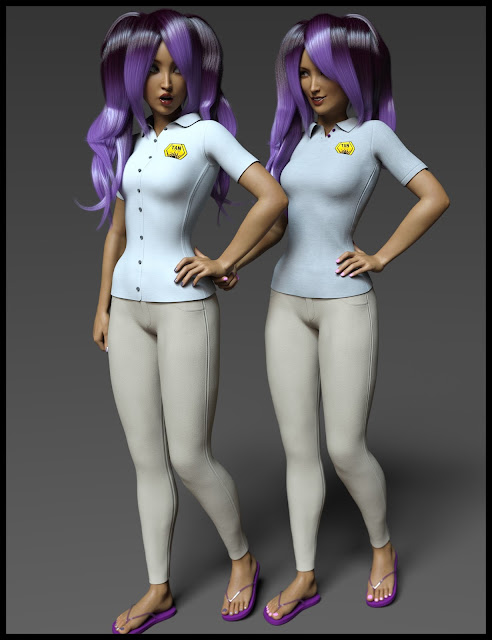 i13 Retail Clerk Outfit for Genesis 3 Female