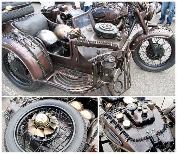 motorbike kustom sivuvaunu side bar