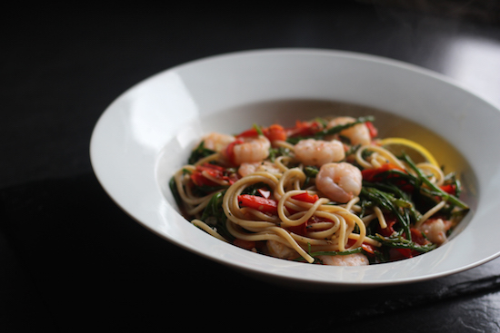 King prawn spaghetti pasta UK