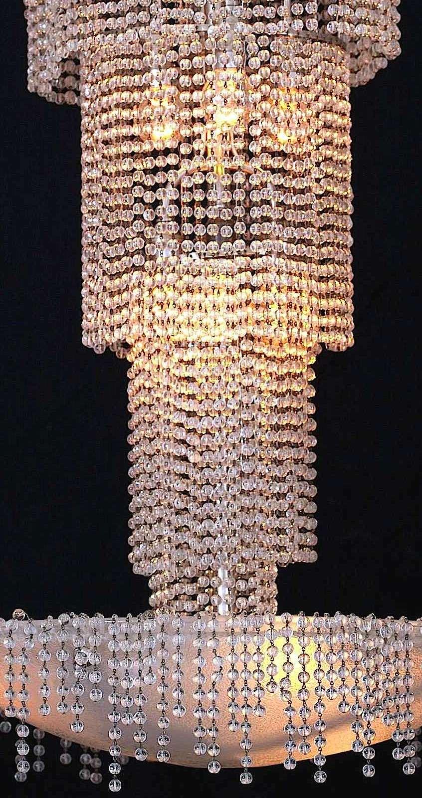 a 1925 Muller Freres beaded chandelier