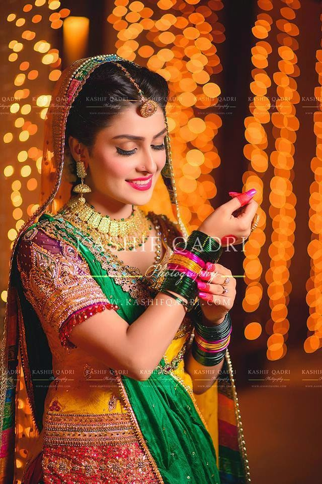 Ayeza Khan In Awesome Mehndi Dress The Concepts Of