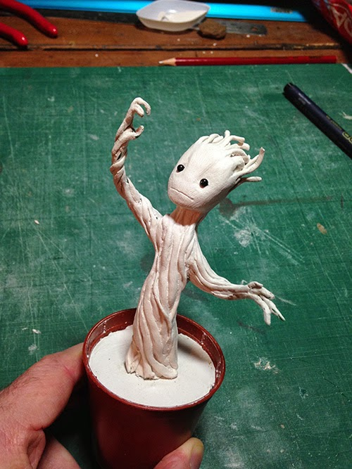 Completed Groot sculpt
