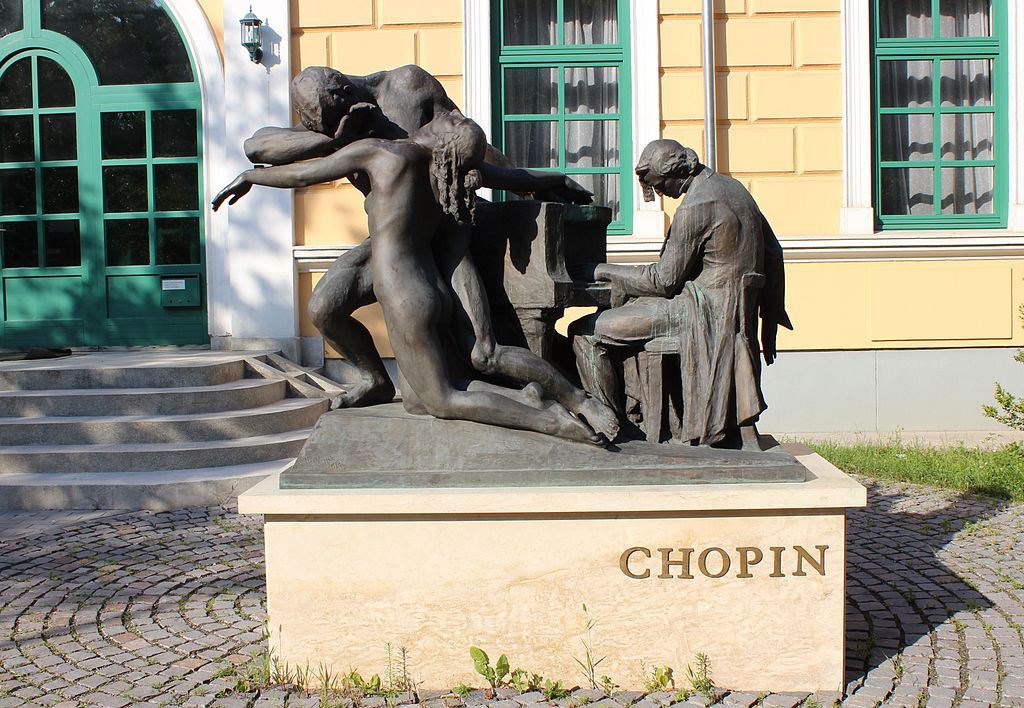 Monument of Frédéric Chopin Music School in Gödöllő,  Hungary