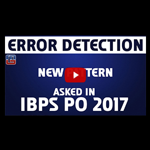 Error Detection | New Pattern | English | IBPS PO 2017