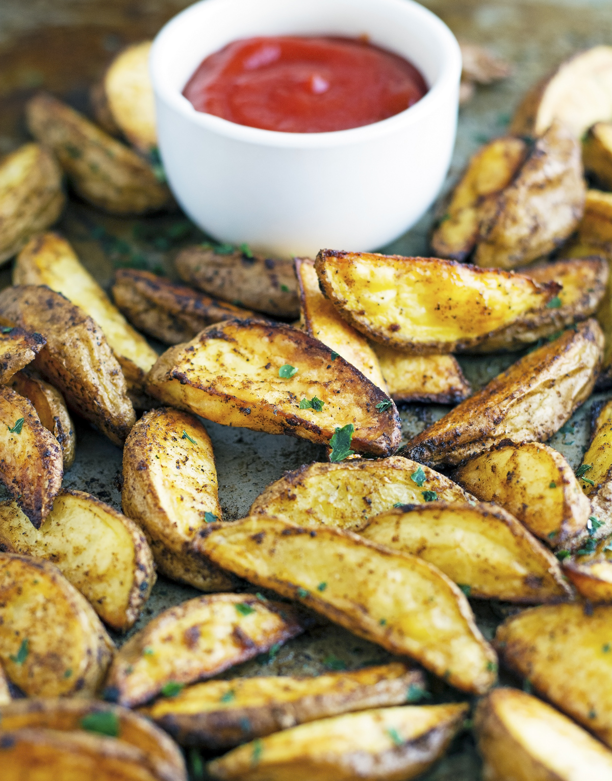 Salt, Pepper & Paprika Potato Wedges