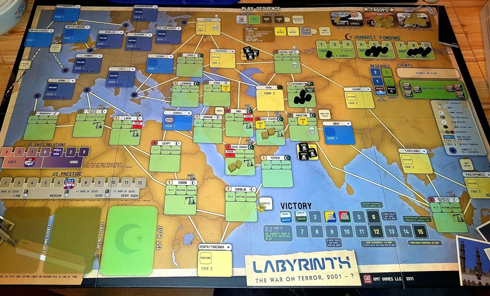 A wargaming gallimaufry labyrinth the war on terror the map focuses on the europe the middle east and parts of africa and asia each muslim country has a state of government which can be influenced by either publicscrutiny Images