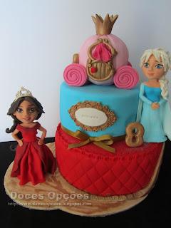 bolo aniversário princesas disney bragança