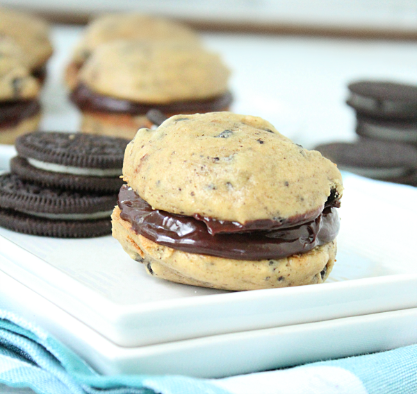 Oreo Whoopie Pies With Chocolate Filling from Table for Seven