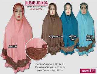 Jilbab bergo syar'i murah meriah-adinda motif 2