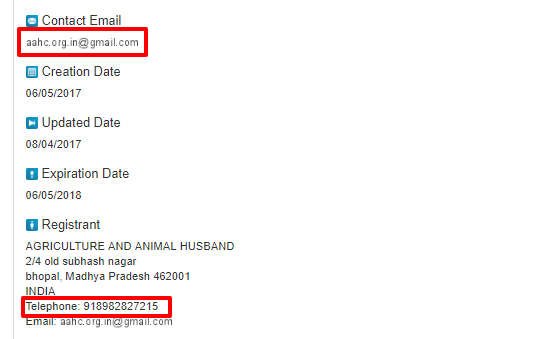 4. The mobile number mentioned on whois is switched off.