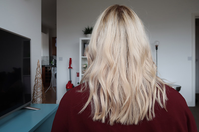 vivid hair extensions Northampton blonde before and after