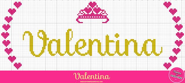 Nome Valentina em Ponto Cruz