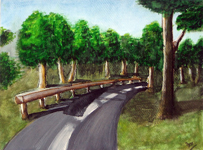 Landscape Painting of a Highway