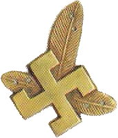 Not a Nazi Swastika - it is Highlander Cross badge worn on the collars of the Podhale Rifles Regiment until 1945