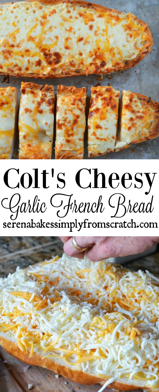Colts cheesy garlic french bread serena bakes simply from scratch colts recipes for the all time best cheesy garlic french bread so good serenabakessimplyfromscratch forumfinder Choice Image