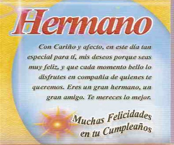 Feliz cumplea os hermano tarjetas de feliz cumplea os - Feliz cumpleanos en catalan ...