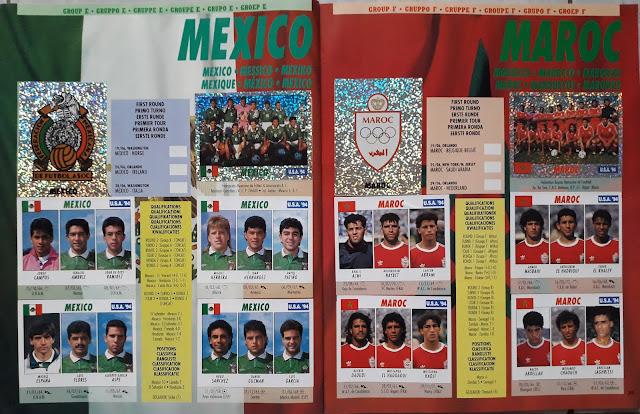 USA 94 WORLD SOCCER CHAMPIONSHIP GROUP E MEXICO AND MAROC