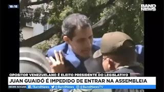 Juan Guaidó é impedido de entrar na Assembleia